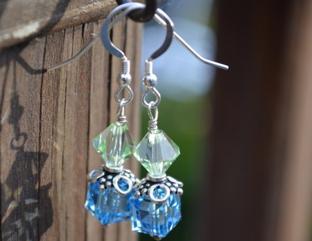 Seaside Bali silver and crystal earrings © Contemplation Marks